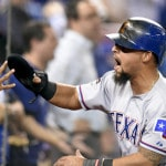 Rangers take lead on bizarre play in Game 5 of ALDS