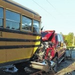 New: Photos of Blan school bus accident; no injuries