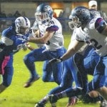 Falcons soar on cold, windy night