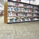Blan library patrons floored by carpet