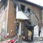 Apartment fire displaces 3
