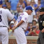 Lackey's winless streak at 5, Maddon tossed, Reds top Cubs