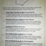 Cast your vote for Clinton County Reads