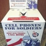 Cell Phones for Soldiers at Blan library
