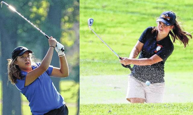 The high school girls golf season officially kicked off the 2017-18 athletic year in Clinton County. In addition, it was the first gathering of the Southern Buckeye Athletic & Academic Conference in the county. In the composite photo, Clinton-Massie's Taylor Kropp and Wilmington's Carrie Robinson were among the golfers who participated in this week's event at Majestic Springs Golf Club.
