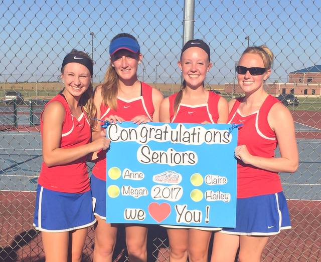 Hailey Stinchcomb, Megan Wonderly, Anne Thompson, and Claire Carruthers