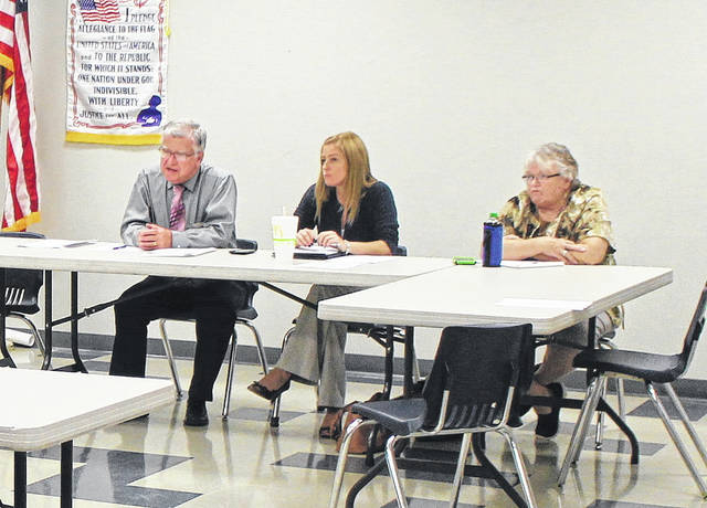 Hillsboro City Council's Civil Service and Employee Relations Committee chairman Bill Alexander, left, sits with committee members Becky Wilkin, center, and Claudia Klein.