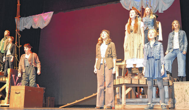 """Wilmington High School will continue its presentations this weekend of """"Peter and the Star Catcher"""", WHS theater's fall production. Show times are Saturday, Nov. 11 at 7:30 p.m., and a matinee on Sunday, Nov. 12 at 2 p.m. at the WHS auditeria. All tickets are $10. You can reserve tickets on the website www.theatreatwhs.weebly.com . """"Peter and the Star Catcher"""" tells a """"backstory"""" for the character of Peter Pan and his arch-nemesis Captain Hook, according to the Wilmington City Schools website. For more photos of the dress rehearsal, visit wnewsj.com ."""