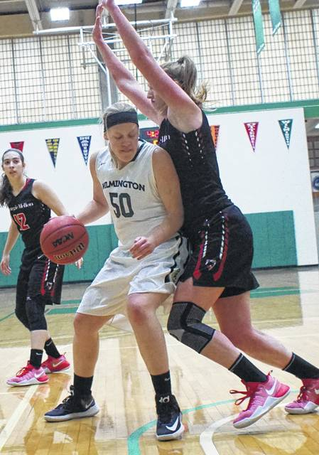 AJ Arling, a Minster High School product, is one of the top returning players on the Wilmington College women's basketball team.