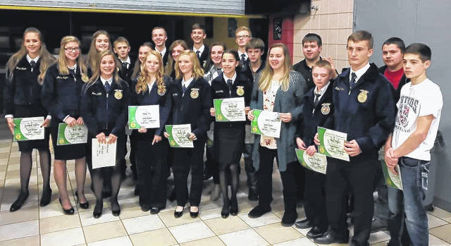 Thirty-one recipients received their Greenhand degree while 23 recipients received their Chapter FFA Degree.
