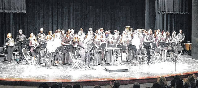The recent Xavier Honors Band Festival culminated in a concert performance in the GFC Theater and featured several Clinton-Massie band students.