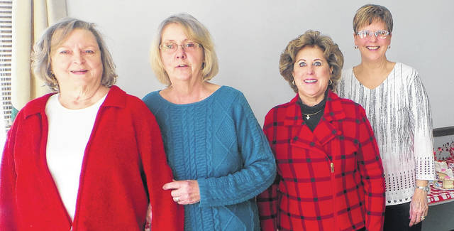 The February hostesses were Angie Monroe, Vicki Conley, Ann Johnson and Annette Redfern.