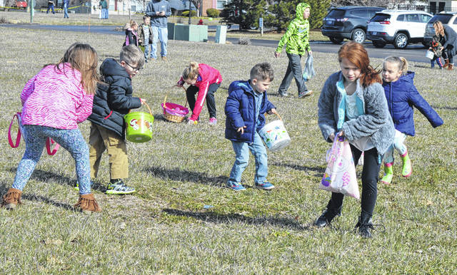 There were Easter eggs aplenty to gather at two courtyards on the grounds of Ohio Living Cape May on Sunday afternoon. The event included photos with the Easter Bunny as well as cookies and punch.
