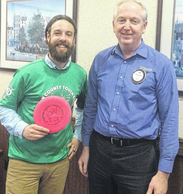 From left are Clinton County Youth Council Director Eric Guindon and Wilmington Rotary President Bob Schaad.