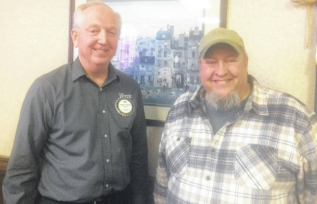 From left are Bob Schaad, President of Wilmington Rotary, and Allen Willoughby of Sugartree Ministries.