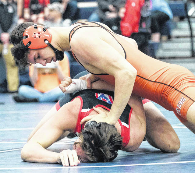 Isaac Allen of Wilmington High School advanced to the Ohio Division II tournament at 160 pounds and will compete in Columbus Thursday.