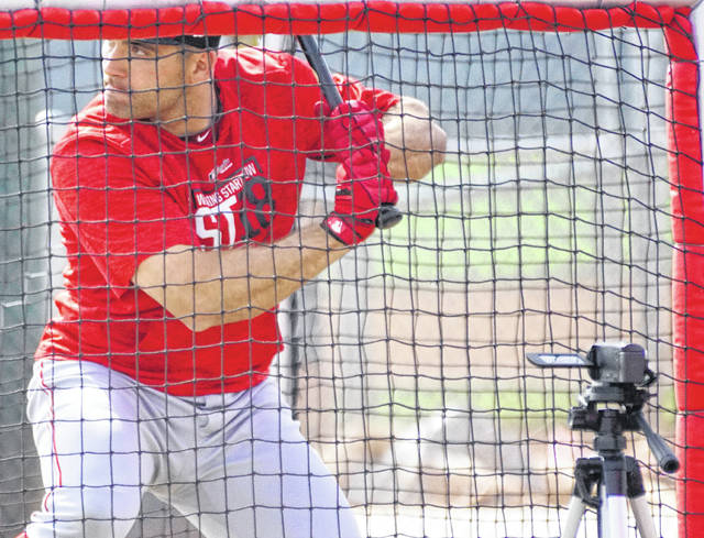 Joey Votto, the NL's 2010 Most Valuable Player, had a comparable season in 2017 even as the Reds languished in last place. Votto finished second to Giancarlo Stanton by two points for the MVP award in 2017. Votto batted .320 with 34 doubles, 36 homers, 100 RBIsand 134 walks. He led the NL in on-base percentage at .454.