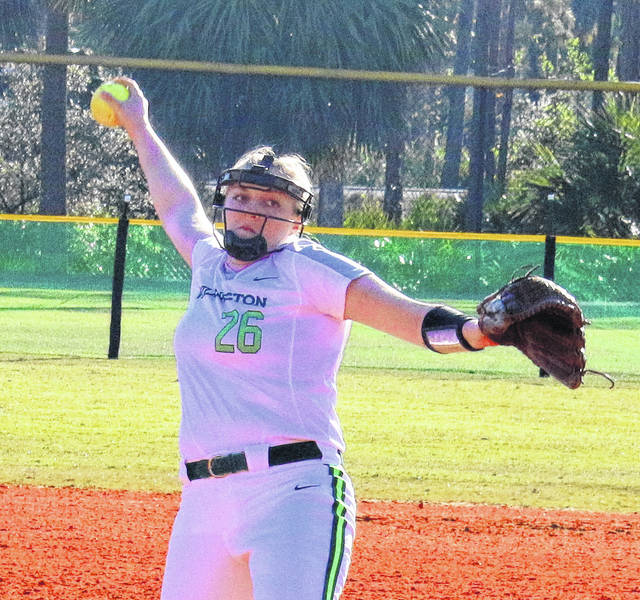 WC freshman Grace Shell was the OAC Softball Pitcher of the Week.