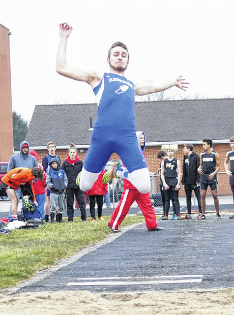 Clinton-Massie's Luke Richardson won the long jump (21-3) and the 100-meter dash (11.5) Tuesday at Miami Trace High School.