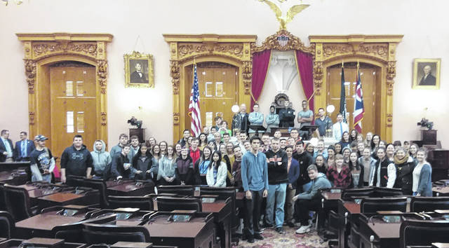 The Wilmington students visited Columbus to learn more about state government.