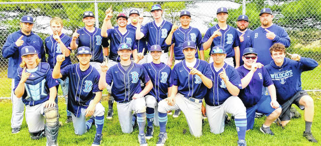 For the second straight season, the Blanchester High School baseball team won the SBAAC National Division championship. The Wildcats defeated East Clinton 13-2 on Thursday to clinch the outright crown. The title is Blanchester's fifth in the past six seasons for baseball. In the photo, from left to right, front row, Cole Ficke, Preston Griffin, Justin Ballard, Trenton Czaika, Jacksson Waialae, Mason Rector, Clayton Boyd, Chase Sicurella; back row, head coach Aaron Lawson, Eric Patton, Jack Davidson, Brant Bandow, Chris Farrow, Zach Dearth, Dustin Howard, Brody Rice, coach Bradon Pyle, coach Kevin Brown. Coaches who were not in the photo but part of the program were Alan Ledford, Andrew Freeman and Kyle Campbell