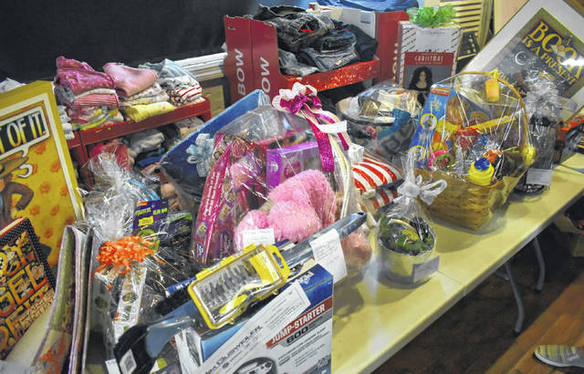 Just some of the items up for auction at the Angel House's fundraiser on Saturday.