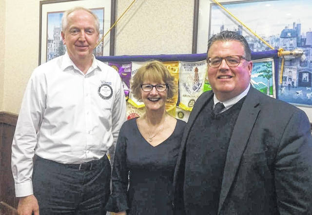 From left are Bob Schaad, President of Wilmington Rotary President; Kim Vandervort, CASA Program Director; and Chad Carey, Judge of the Clinton County Probate and Juvenile Court.