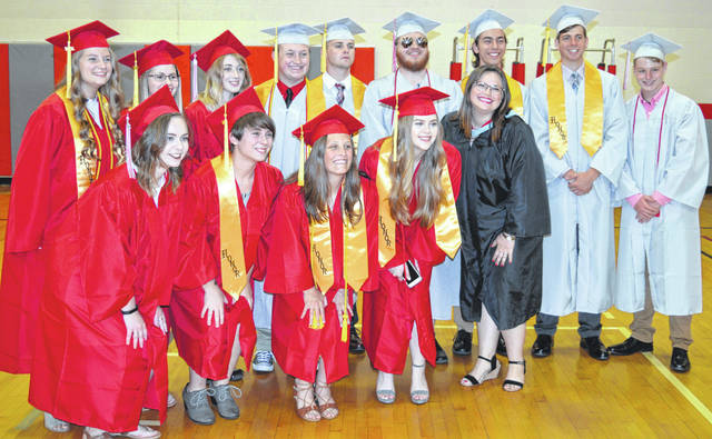 Prior to the start of commencement, this group of graduating East Clinton High School seniors posed for a photograph. Altogether, the East Clinton Class of 2018 is comprised of 106 graduates.
