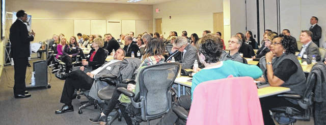 Economic development leaders from a 14-county region shared ideas at the event held at the Wilmington Air Park.
