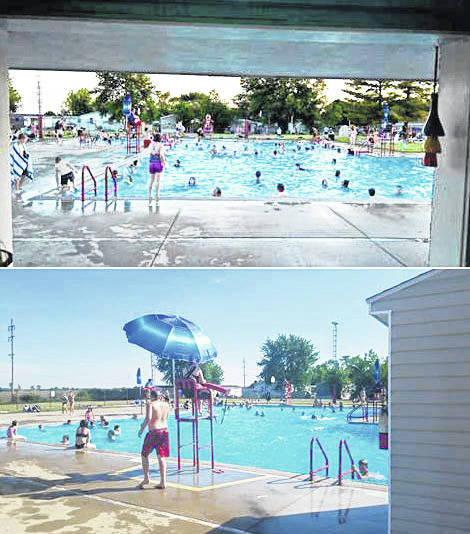 A free opening-day party at the Sabina Community Pool attracted an estimated 400 people altogether.