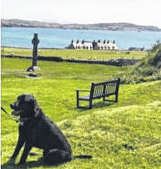 Oswald of Northumbria on the Isle of Iona in Scotland, next to the North Sea.