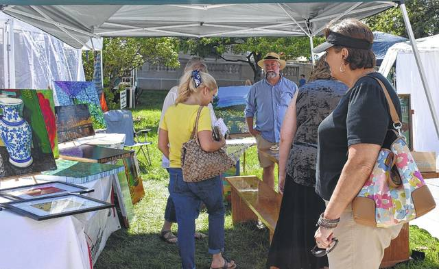 Arts and crafts booths abounded at last year's event.