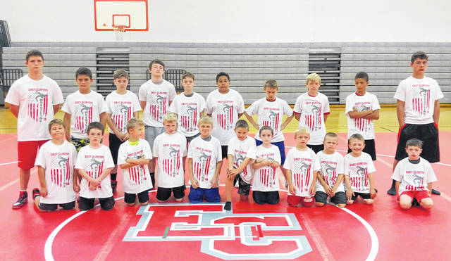 East Clinton campers, from left to right, front row, London Hensley, Sawyer Fooce, Preston Davis, Zimri Mahanes, Landon Brockman, Evan Alford, Dalton Fetters, Lane Coffey, Landon Daugherty, Jackson Fryman and Roy Riddle; back row, Ethan Kessler, Aiden Conger, Lukas Runk, Liam McPherson, Christopher Rider, Demetri Binegar, Colton Brockman, Jayden Coffey, Curtis Singleton and Isaiah Conger.