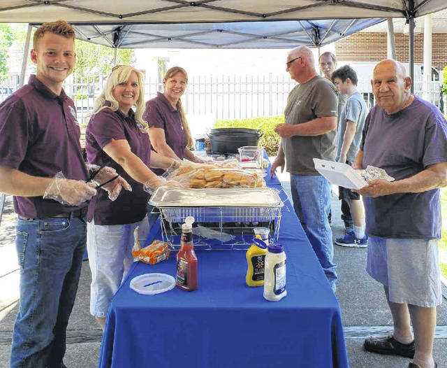 Food is always plentiful at First National Bank of Blanchester's annual event at Penquite Park.