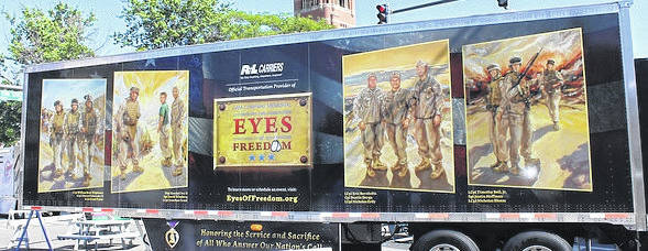 The Lima Company Memorial, commemorative-wrapped trailer will be at the park in Wilmington Wednesday.