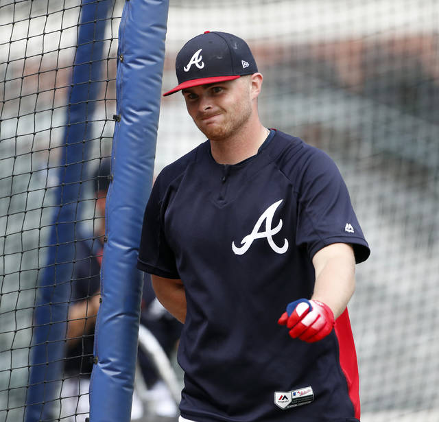 "Atlanta Braves starting pitcher Sean Newcomb (15) is shown during batting practice before of a baseball game against the Miami Marlins Monday, July 30, 2018 in Atlanta. Newcomb apologized Sunday for racist, homophobic and sexist tweets he sent as a teenager, calling them ""some stupid stuff."" ""I definitely regret it, for sure,"" he said. (AP Photo/John Bazemore)"