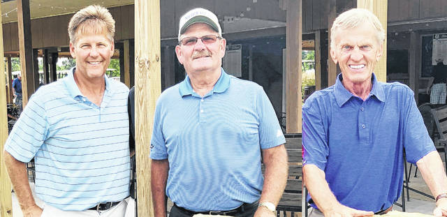 Majestic Springs champions: Brad Norris in first flight, Jim Keeton in second flight and Stan Coveleskie in senior flight.