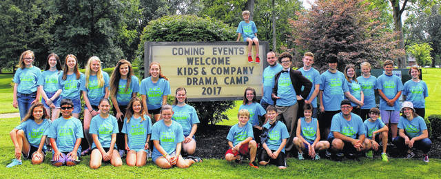 The 24th annual Kids & Company Drama Camp is for youths ages 11-17. Shown are the 2017 participants.