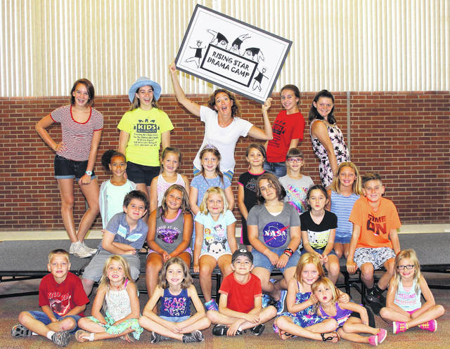 Shown are the enthusiastic participants of last year's Kids & Company Rising Star Drama Camp for ages 6-10.