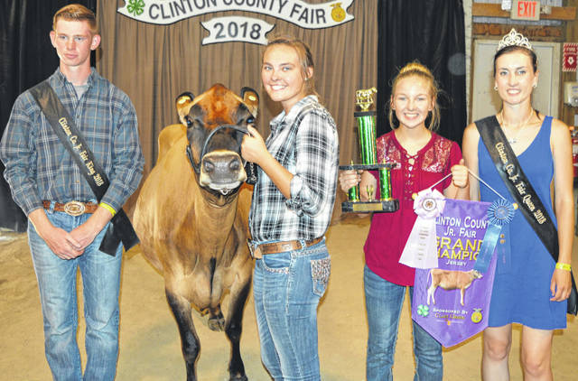 Sierra Smith's reserve supreme dairy project sold at the Clinton County Junior Fair Dairy Sale. She is a member of the Animals Express 4-H Club. The buyers are American Equipment Service, American Showa, BDK Feed & Supply, COBA Select Sires, First State Bank, NCB - FSB, Nationwide Insurance - Justin Holbrook, Panetta Excavating Inc., Peoples Bank, Prengers Inc., R+L Carriers / Roberts Centre, World Equestrian Center, Constance Wall, contribution in memory of Gary Quallen, No. 1 China Buffet, Hupps Auto, and M & W Puller.