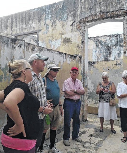 Interested people visit the Wilmington School ruins.