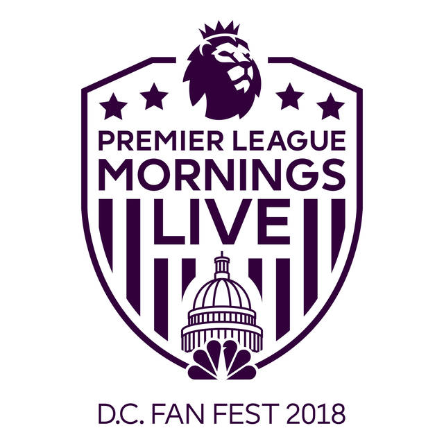"""This logo provided by NBC Sports shows the logo for a series of live Premier League fan events around the United States beginning in late September in the nation's capital. The network debuts """"Premier League Mornings Live"""" on Sept. 29 in Washington as a follow-up to its initial event in New York last November. NBC Sports is expected to announce the series later Tuesday, Aug. 28, 2018. (NBC Sports via AP)"""