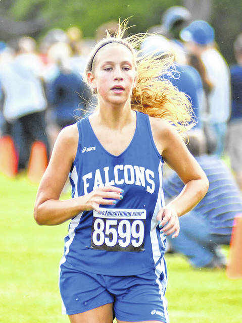 Clinton-Massie's Emma Muterspaw was the top county runner in Saturday's FinishTiming XC Classic girls cross country race at Wilmington College. She was ninth among 125 runners.