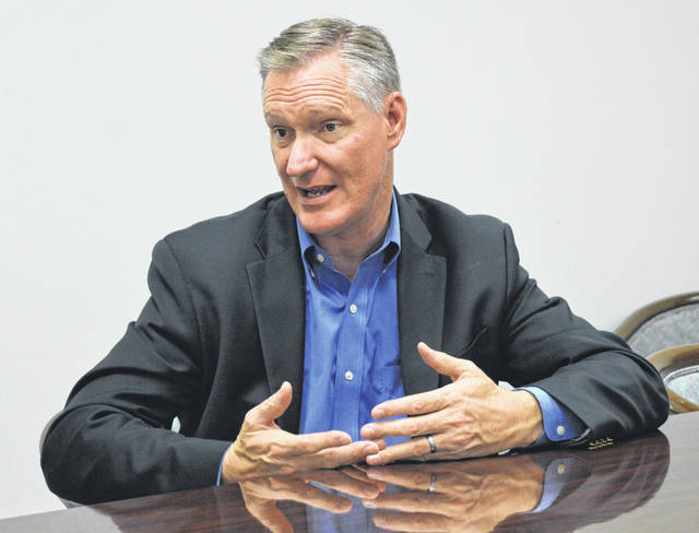 U.S. Rep. Steve Stivers (R-Ohio 15th District) visited Wilmington Monday, including a stop at the News Journal office.