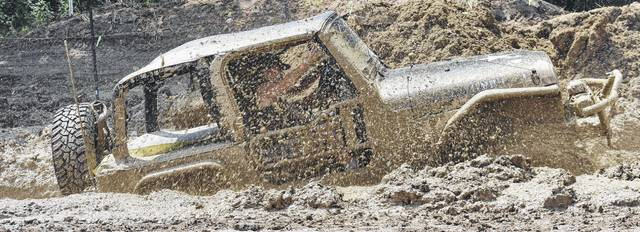 Jeeps don't have a problem getting stuck in the mud, as shown during last year's Jeep Jam.