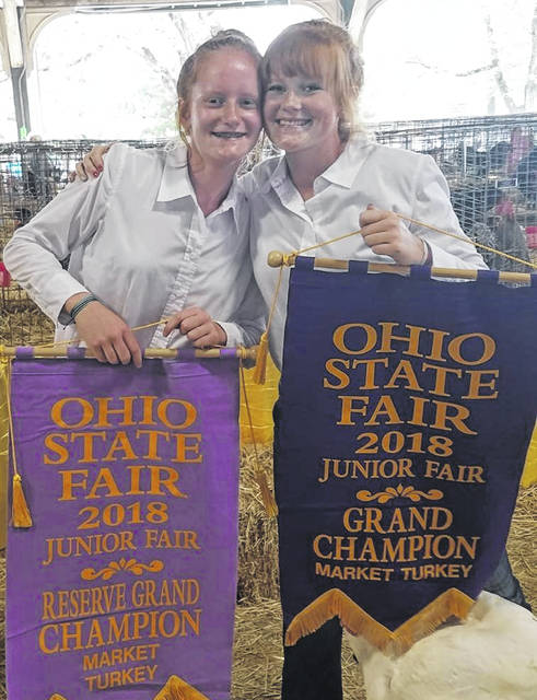 From left are East Clinton FFA members Jozie Jones and Myah Jones.