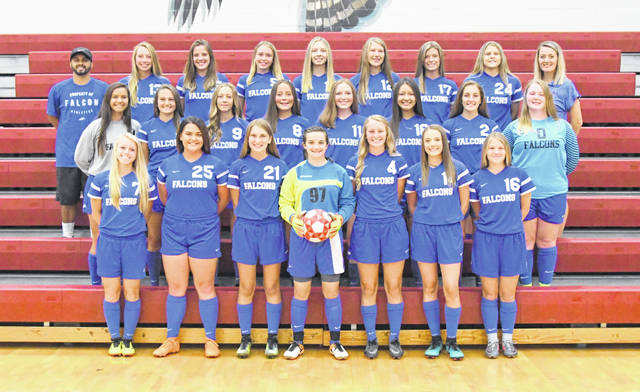The Clinton-Massie High School girls soccer team, from left to right, front row, Emily Ireland, Sarah Helling, Elle Paul, Savannah Henerson, AJ Houseman, Miranda Crawford, Robyn Birzer; middle row, Victoria Sivert, McKenna Crawford, Nora Voisey, Brenna Eades, Sadie Carruthers, Amanda Wilson, Molly Lynch, Erica Keller; back row, coach Julio Madrigal, Lindsey Carter, Olivia Bills, Kennley Robinson, Avery Cramner, Ashley Doyle, Lauren Amburger, McKenzie Avery, coach Logan Madrigral.