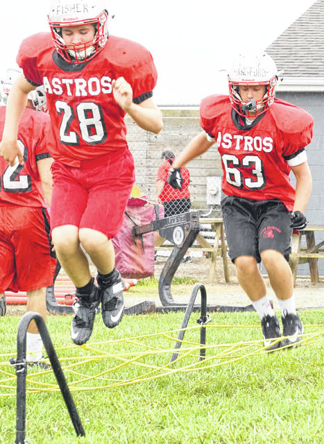 All four Clinton County high school football programs will conduct scrimmages Saturday. East Clinton (with players shown above) will travel to Frankfort to face Adena High School at 5 p.m. Wilmington will be at Beavercreek for a 10 a.m. start and Clinton-Massie will play Edgewood beginning at 10 a.m. Blanchester will host Hillsboro and former head coach and BHS graduate Jack O'Rourke and his Indians at 9 a.m. at Barbour Memorial Field.