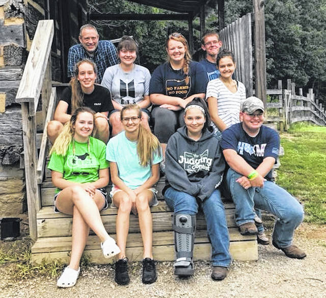From left are: Front row, Brighton Morris, Abby Spurling, Felicity Richardson and Tom Black; second row, Caili Baumann, Chloe Taylor, Ashleigh Osborn and Jillian Richardson; and, back row, Dow Tippett and Matt O'Neill.