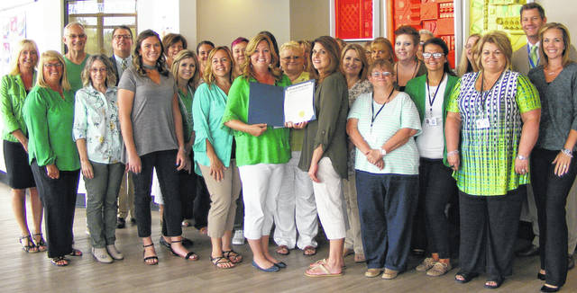 Clinton County commissioners have proclaimed August as Child Support Enforcement Month. Staff at the Clinton County Job & Family Services wore green attire this week for the occasion. In Clinton County, there are about 3,300 child support cases, said officials. The collection rate is at more than 70 percent.